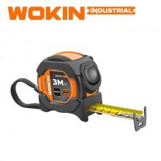 Ruleta 3m x 16mm cu încuietor (cu două fețe) Wokin 500453