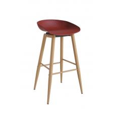 Scaun de bar Deco HECTOR Brown/Red