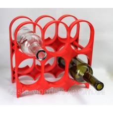 Стеллаж для бутылок, пластиковый, на 6 бут. (11419)